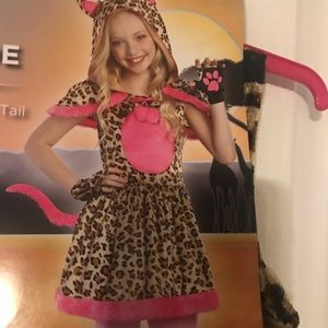 Girls' Cat costume Large